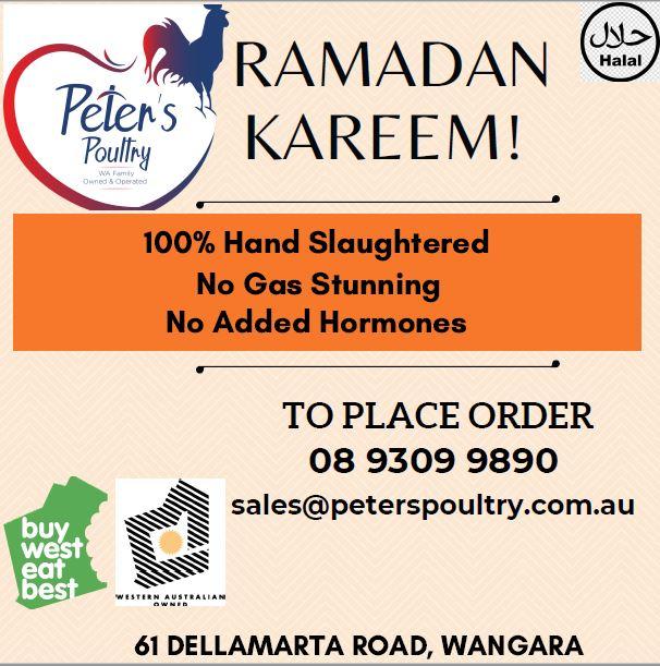 Peter's Poultry Ramadan Update