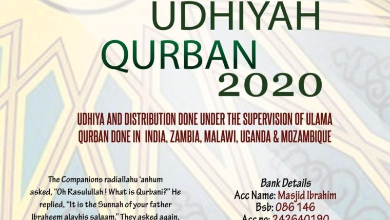 Masjid Ibrahim – Qurbani Udhiya 2020